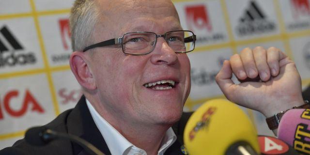 Förbundskapten Janne Andersson i Milano.  Jonas Ekströmer/TT