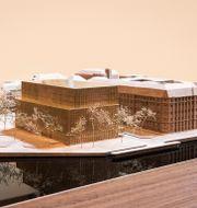 Gammal modell av Nobelcenter. David Chipperfield Architects/Handout / TT NYHETSBYRÅN