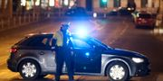 Polisavspärrning efter angreppet. Ronald Zak / TT NYHETSBYRÅN