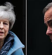 Premiärminister Theresa May och BOE-chefen Mark Carney.  TT