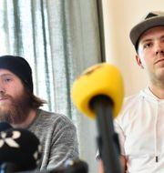 Robin Dahlén och Christian Karlsson. Noella Johansson/TT / TT NYHETSBYRÅN