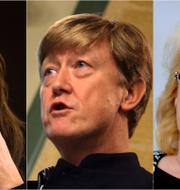 Åsa Romson, Andreas Carlgren och Lena Ek.  TT