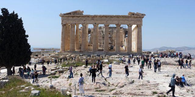 Parthenon, ett tempel på Akropolis i Aten. Løvland, Marianne / TT NYHETSBYRÅN