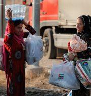Kvinnor i flyktingläger i Mosul, Irak/Arkivbild. Hussein Malla / TT NYHETSBYRÅN