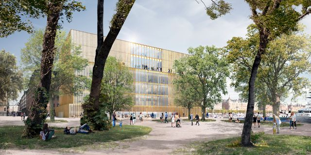 En datorgenererad bild av Nobelcenter på Blasieholmen. David Chipperfield Architects/Handout / DAVID CHIPPERFIELD ARCHITECTS