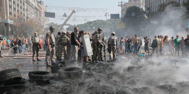 Protester mot att ukrainska soldater lamnas i sticket