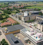 Fastigheter omkring Bara Centrum, öster om Malmö. Pressbild
