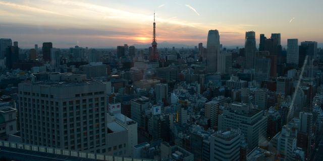 Tokyo, tidig morgon.  JANERIK HENRIKSSON / TT / TT NYHETSBYRÅN