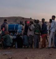 Flyktingläger i Qadarif i östra Sudan.  Nariman El-Mofty / TT NYHETSBYRÅN