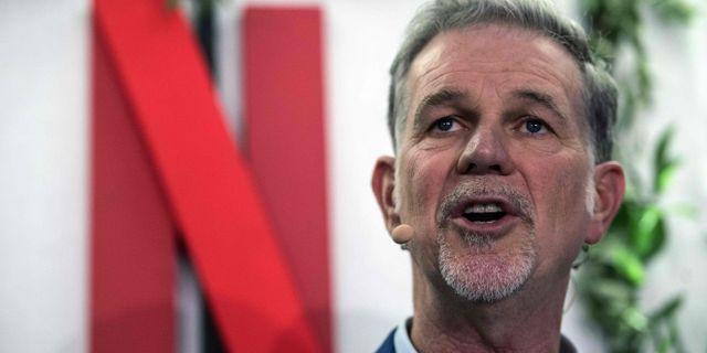 Netflix medgrundare Reed Hastings. CHRISTOPHE ARCHAMBAULT / AFP