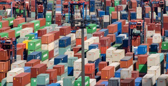 Illustrationsbild: Containerterminal i Hamburg.  Axel Heimken / TT NYHETSBYRÅN