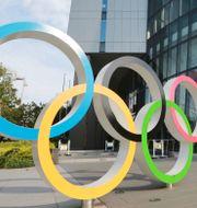 OS-ringarna i Tokyo.  Koji Sasahara / TT NYHETSBYRÅN