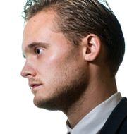 Sverigedemokraternas pressekreterare Henrik Vinge. PONTUS LUNDAHL / TT / TT NYHETSBYRÅN