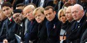Världsledare på plats i Paris för att minnas första världskrigets slut, i november  Ludovic Marin / TT NYHETSBYRÅN/ NTB Scanpix