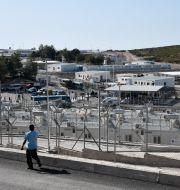 En av de nya anläggningarna på ön Samos. Michael Svarnias / TT NYHETSBYRÅN