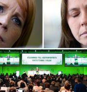 Annie Lööf och Åsa Romson. TT