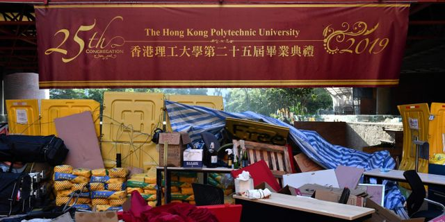 Polytekniska universitet i Hongkong. ANTHONY WALLACE / AFP