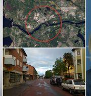 Arkivbilder: Målare, Dalgatan i Sveg, Magdalena Andersson (S). Satellitbild på Sveg. TT, Wikimedia, Google maps.