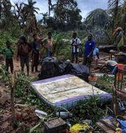 Bilder från det drabbade området.  GREGORY WALTON / AFP
