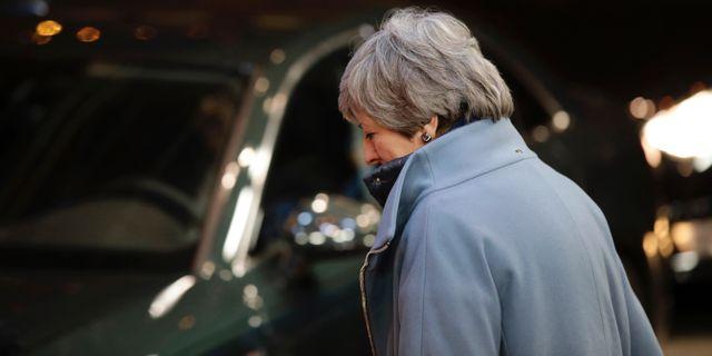 Theresa May. Olivier Matthys / TT NYHETSBYRÅN/ NTB Scanpix