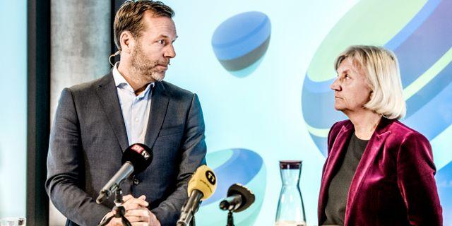Johan Dennelind, till vänster.  Lars Pehrson/SvD/TT / TT NYHETSBYRÅN