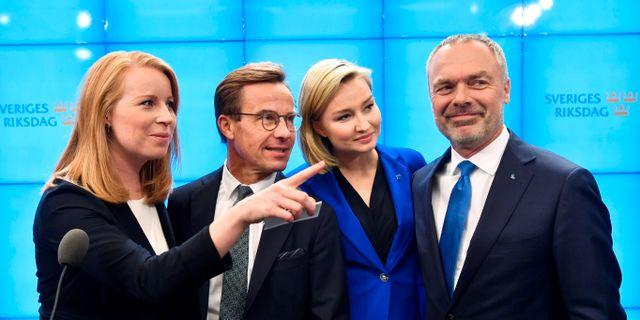 Alliansledarna.  TT NEWS AGENCY / TT NYHETSBYRÅN