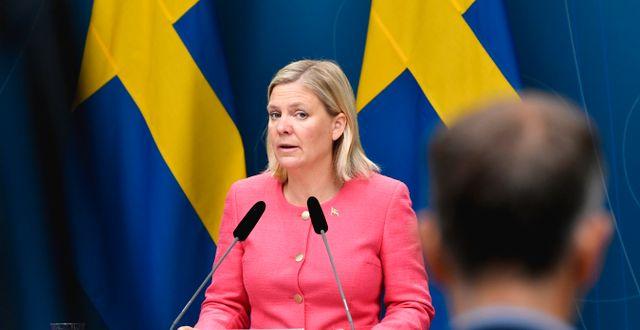 Sveriges finansminister Magdalena Andersson Henrik Montgomery/TT / TT NYHETSBYRÅN