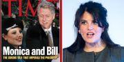 Monica Lewinsky och Bill Clinton på Times omslag.  TT