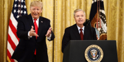 Donald Trump och Lindsey Graham i veckan. Patrick Semansky/AP/TT