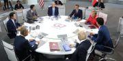 Världsledarna under G7-mötet i Biarritz. Markus Schreiber / TT NYHETSBYRÅN