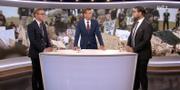 Jonny Cato och Jimmie Åkesson i kvällens Aktuellt. SVT Aktuellt