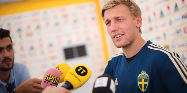 Svenska landslagets mittfältsstjärna Emil Forsberg JOEL MARKLUND / BILDBYR N