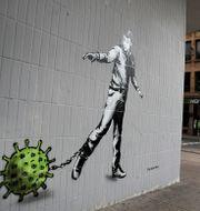 Coronagraffiti i Glasgow. Andrew Milligan / TT NYHETSBYRÅN