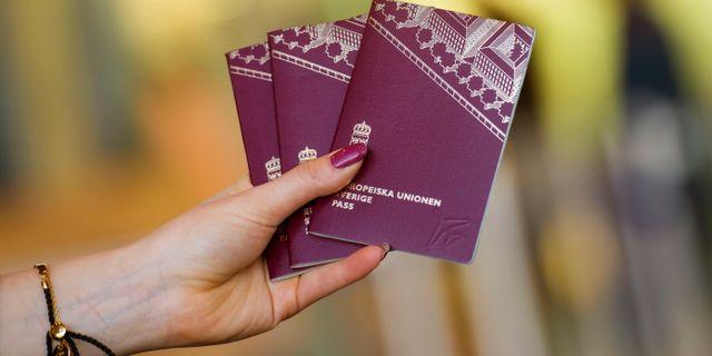 Svenska pass/arkivbild.  Fredrik Sandberg/TT / TT NYHETSBYRÅN
