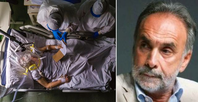 Italiensk intensivvård i Parma/Giuseppe Remuzzi. TT/Mario Negri