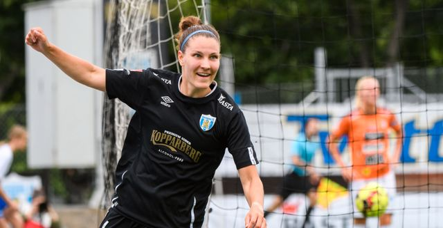 Göteborgs Natalia Kuikka jublar. CARL SANDIN / BILDBYRÅN