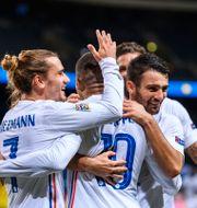 Frankrike firar sitt mål. JOEL MARKLUND / BILDBYRÅN