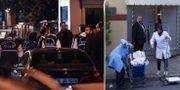 Turkisk polis och städare vid konsulatet. TT