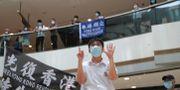 Protester i Hongkong. Kin Cheung / TT NYHETSBYRÅN