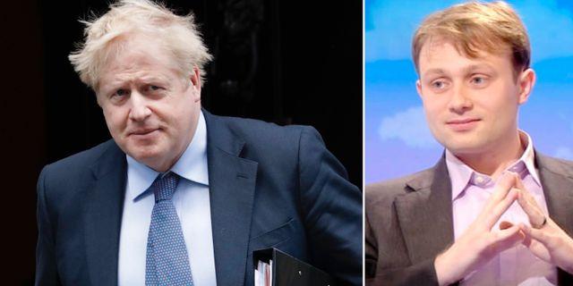 Boris Johnson och Andrew Sabisky. TT