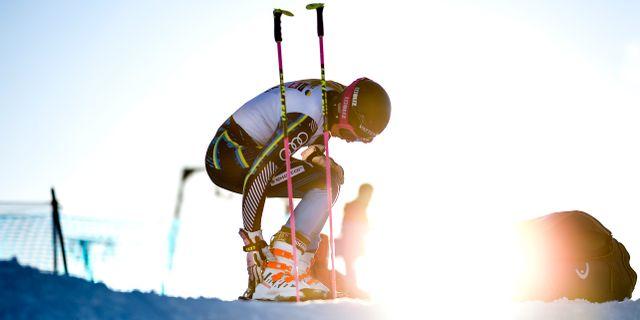 Frida Hansdotter tränar på Vemdalsskalet inför alpina VM i Åre. Pontus Lundahl/TT / TT NYHETSBYRÅN