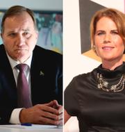 Carina Bergfeldt, Stefan Löfven och Nike Nylander/Arkivbilder TT