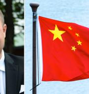 Thomas Mattsson/Kinas flagga. TT