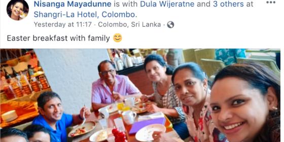 Shanta och Nisanga Mayadunne till höger Facebook
