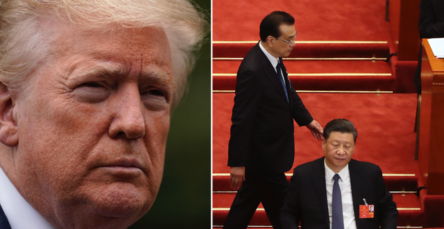Trump och Xi Jinping. TT