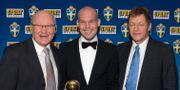Lars Sandlin (t h) tillsammans med Lars-Åke Lagrell och Fredrik Ljungberg på Fotbollsgalan 2006. BJÖRN TILLY / BILDBYRÅN