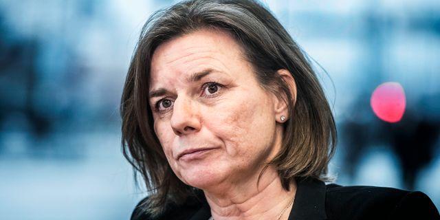Miljöpartiets språkrör Isabella Lövin.  Tomas Oneborg/SvD/TT / TT NYHETSBYRÅN