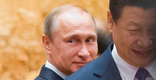 Vladimir Putin och Xi Jinping, arkivbild. Pablo Martinez Monsivais / TT / NTB Scanpix