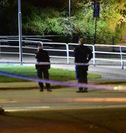 Bild från polisinsatsen i Nyköping. Pontus Stenberg/TT / TT NYHETSBYRÅN