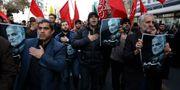Protester i Iran.  Vahid Salemi / TT NYHETSBYRÅN